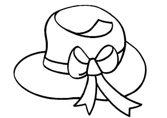 chapeau a colorier