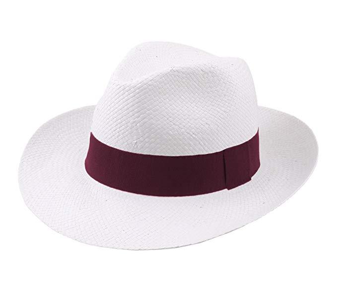 chapeau de paille bordeaux