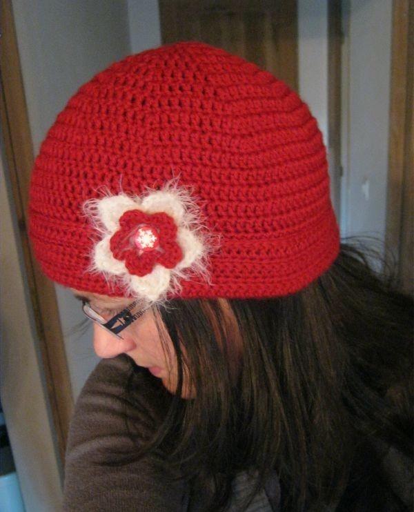chapeau femme au crochet
