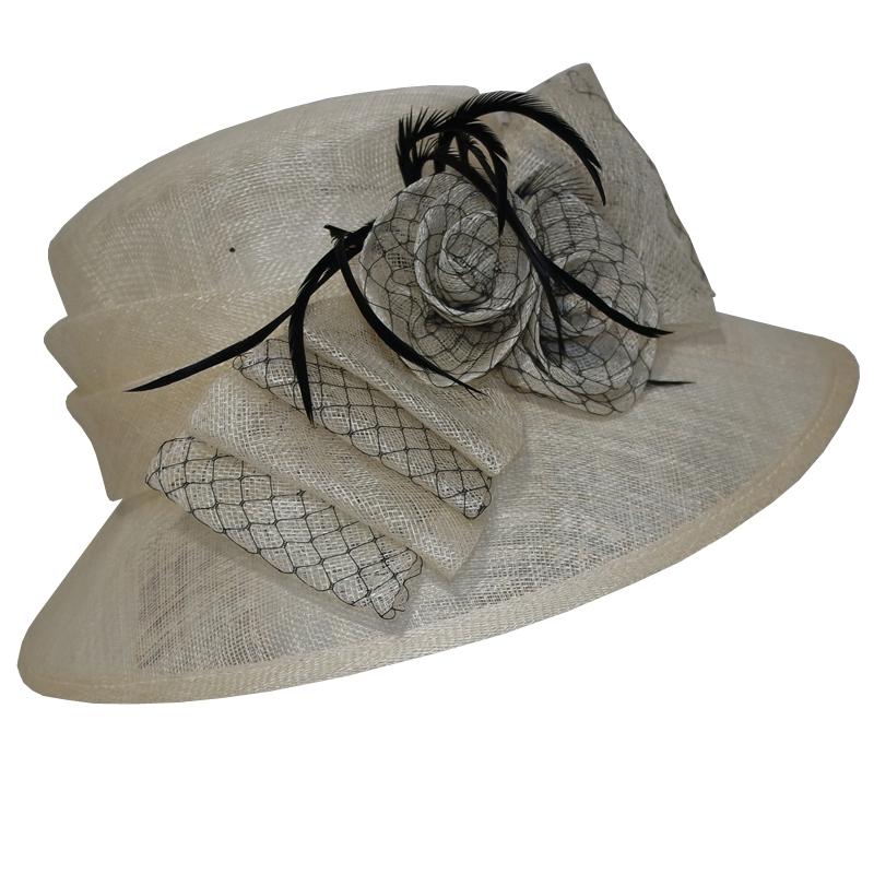 chapeau femme noir ete