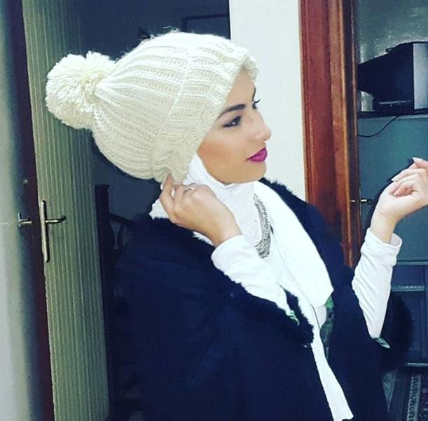 chapeau femme voilee