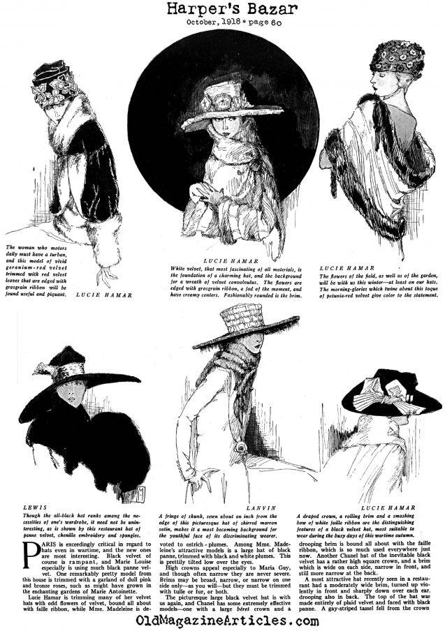 chapeau homme 1918